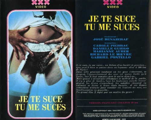 Je te suce tu me suces (1983) cover
