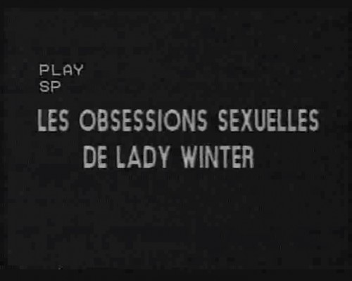 Lady X 5: Les obsessions sexuelles de Lady Winter (1984) cover