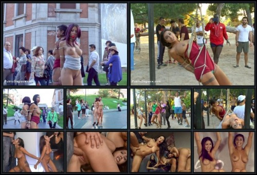 PublicDisgrace.com - Sandra Romain, Coral Joice, Julia De Lucia (EVERY Slave Pussy Disgraced in Public European Fuckfest!) cover