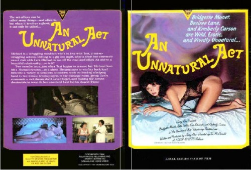 An Unnatural Act (Better Quality) (1984) cover