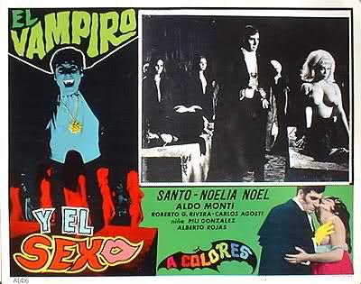Santo en El tesoro de Dracula (1969) cover