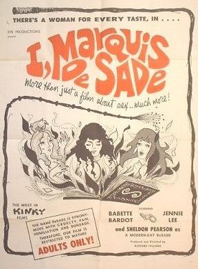 I, Marquis de Sade (1967) cvoer