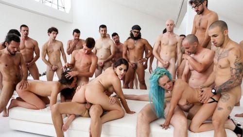 RoccoSiffredi.com - Valentina E, Nataly Gold, Vesna, Valentina Nappi, Mary Rider, Luna Dark (Rocco's Italian Porn Boot Camp, Scene 2) cover