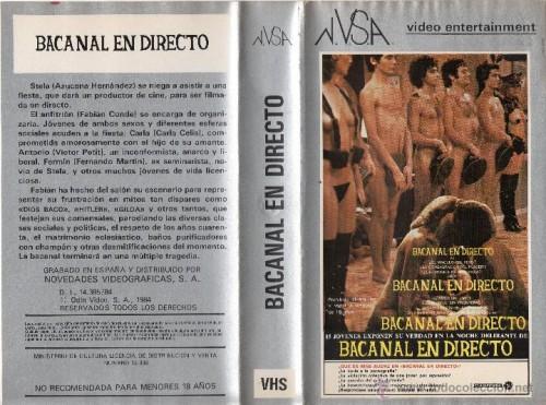 Bacanal en directo (1979) cover