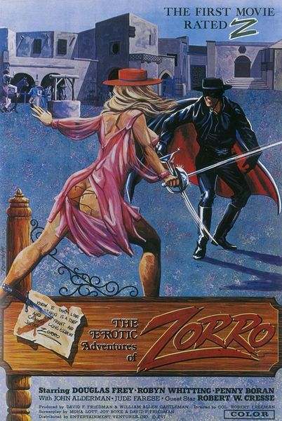 The Erotic Adventures of Zorro (Better Quality) (1972) cover
