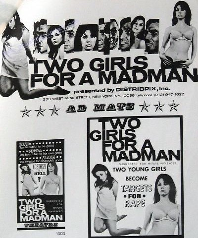 Two Girls for a Madman (1968) cover