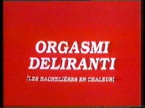 Orgasmi deliranti (1982) cover