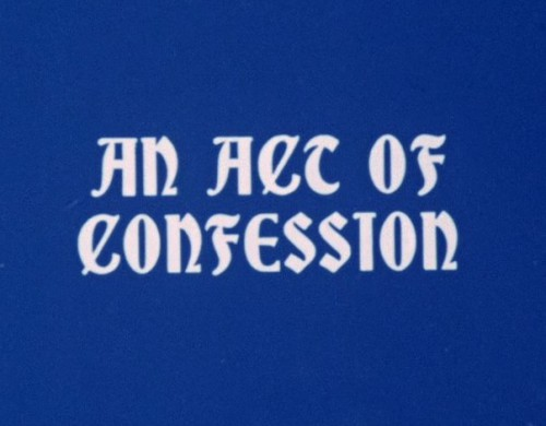 An Act of Confession (1972) cover